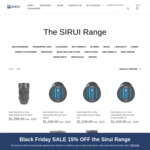15% off All SIRUI + Free Mobile Phone Clamp Per Order (Valued $29.95) + Free Del' over $49 @ Sirui