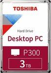 "Toshiba P300, 3.5"" HDD 3TB 7200rpm 64MB Hard Drive $130.15 Delivered @ Amazon AU"