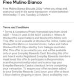 Claim a Free Pack of Barilla Mulino 200g Biscuits @ Woolworths via Woolworths Rewards