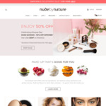 50% off Sitewide (Excludes Sale + Kits, Free Delivery with $50+ Order) @ Nude by Nature