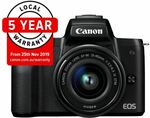 Canon EOS M50 w/15-45mm IS STM Lens $685 Delivered @ CameraClix