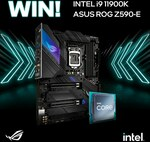 Win an Intel Core i9 11900K CPU & ASUS ROG Strix Z590-E Motherboard Worth $1,488 from PC Case Gear