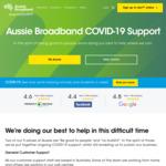 Unmetered Data (6am-6pm) on Limited Data nbn & ADSL Plans in Lockdown @ Aussie Broadband