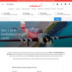 Win 1 of 4 $500 E-Gift Cards from RedBalloon