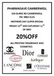 20% OFF Chanel, Dior & Estee Lauder Cosmetics and Fragrance Sale for Mother's Day
