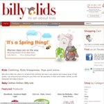FREE Shipping Offer. Orders $50 & over. 1 Week. Billy Lids ONLINEstore. Baby, Toddler & Kids