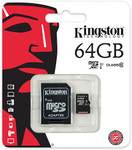 Kingston 64GB Class 10 MicroSDHC Card with Adapter for $40 + ~$7.50 P/H @ COTD