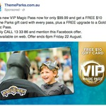 VIP Gold Pass $99 w/ $10 Gift Card (Movie World, Sea World, Wet N Wild) Normally $119.99