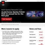 20,000 Qantas Points after First Purchase / No Annual Fee (1st-Year) - NAB Qantas Rewards AmEx