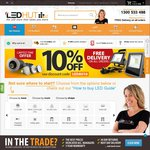 10% off + Free Delivery from LED Hut