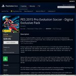 PES 2015 Pro Evolution Soccer - PS4 - Digital Pack $39.95 AUD (10% OFF FOR PSN PLUS MEMBERS)