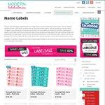 Get 96 Waterproof Personalised Kids Name Labels for $8 @ Modern Bebek