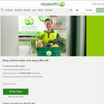 $10 off $100 Spend @ Woolworths Online