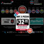 Domino's Pizza Vouchers Exp 24/8: Everyday Value $5, Extra Value Range $5.95, Chef's Best $7, Traditional $6.95 (Pickup) & More
