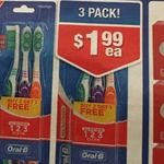 3 Pack Oral B Toothbrush $1.99 @ Chemist Warehouse