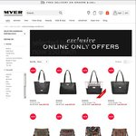 50 Hand Bags $50ea @ Myer Online