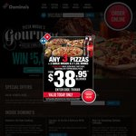 [Only Today] 3 Traditional Pizzas + Garlic Bread, 1.25L Coke $30.95 Delivered @ Domino's Pizza