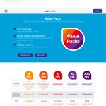 ALDI Mobile Updated Plans: L $25/M + 100 Int. Min. (New), 2GB Data | XL $35 6GB (New +1GB) | XXL $45 8GB | + Data Rollover
