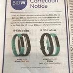 Fitbit Alta HR $198 from Big W