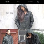 ONRI | Unisex, Long, Warm, Water Resistant Green Camo Jacket with Hood | $129 with Free Shipping | RRP $159