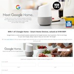 Win 1 of 5 Google Home Smart Home Devices Worth $199 from The Good Guys