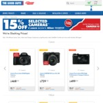 15% off Selected Canon, Nikon, Sony & Olympus Cameras at The Good Guys