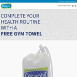 Free Gym Towel from Cetaphil by Filling in a Short Survey
