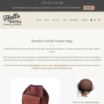 15% off Australian Made Leather Bags @ Halls Hats & Leather Accessories - until Sunday Midnight