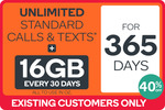 10%-40% off Kogan Mobile Yearly Unlimited Plan $25.00/11GB, $26.50/16GB Equivalent Per Month for Existing Customers