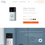 Video Door Bell Normal RRP is $279, Now $189 + $4.95 shipping (Save $90) @ Ring