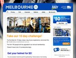 Half price annual subscription to Melbourne Bike Share – that's just $25 for the year!