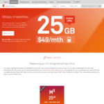 Telstra Sim Only Plan $49 a Month for 25GB - New Customers Only (12 Month Contract)