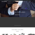 40% off All Cufflinks (Min. Order $120) at Urban Detail
