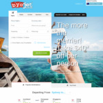 $40 off International Return Bookings @ BYOjet