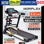 Norflex 3.5chp Treadmill $531.20 Delivered @ Bargains Online eBay