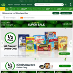 50% off Selected Freezer Items and Kitchenware (Excluding Low Price Always) @ Woolworths Online
