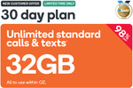 32GB Prepaid | 30 Days | $0.99 @ Kogan Mobile (New Customers)