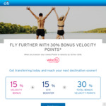 Citibank Reward Points Transfer to Velocity with 30% Bonus Points