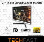 "Allied Expanse 2700C 27"" Curved 144hz 1080p Desktop Monitor $254.15 Delivered @ Tech Fast eBay"
