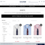 TM Lewin $35 Shirts with Free Delivery. New Styles Added Compared to Black Friday Deal