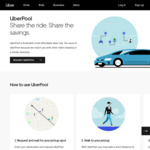 [MEL/SYD] $5 off Every UberPool Ride When Paying via PayPal @ Uber (Maximum 20 Trips)