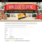 Win a $500 or 1 of 10 $50 Gift Cards from Cellarbrations