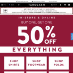Tarocash - Buy One, Get One 50% off Everything