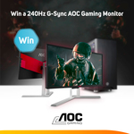 """Win an AOC AGON 25"""" 240Hz G-Sync Gaming Monitor Worth $770 from Scan"""