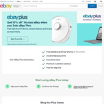 15% off Sitewide for New eBay Plus Members @ eBay (Min Spend $100, Max Discount $150)