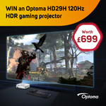 Win an Optoma HD29H 120Hz Gaming Projector Worth $1,280 from Scan