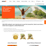Jetstar Mastercard / Platinum Mastercard $150 Cashback after $1,000 Spend