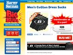 [3 more days] 20 Pairs Men's Socks for $25 Posted. Harvey Norman Big Buy.
