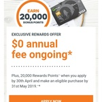 $0 Annual Fee Ongoing When Applying Woolworths Credit Card + 20k Reward Points (Worth $100)