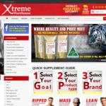 15% off Supplements Storewide & Free Shipping @ XtremeWarehouse